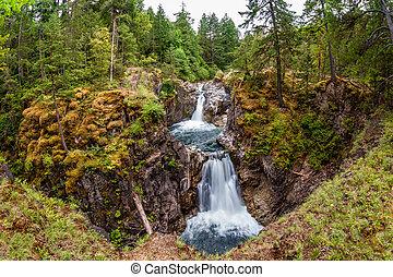 Little Qualicum Falls on Vancouver Island, Canada