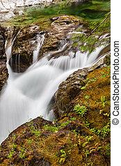 Little Qualicum Falls on Vancouver Island, British Columbia, Canada