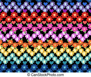 Little Rainbow flower print