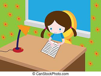 Little reading girl