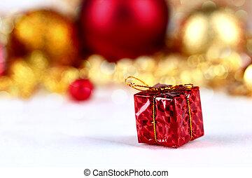 Little red handmade gift box