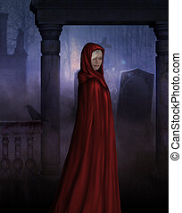 Little Red - Little red riding hood in gothic creepy...