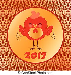 Red rooster for Chinese New Year
