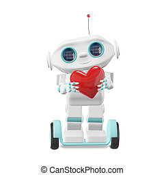 Little Robot with Heart