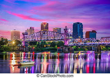 Little Rock Arkansas Skyline - Little Rock, Arkansas, USA ...