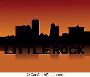 Little Rock skyline at sunset