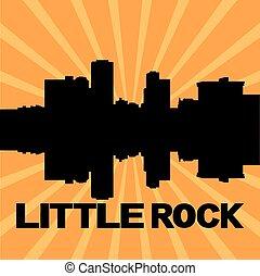 Little Rock skyline sunburst