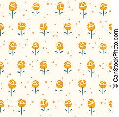 Little roses seamless pattern