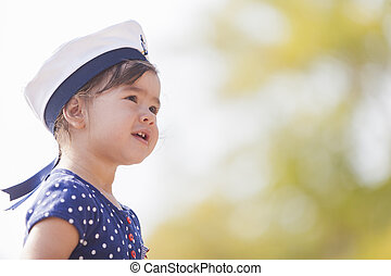 Little sailor girl