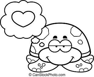 Little Sea Turtle in Love
