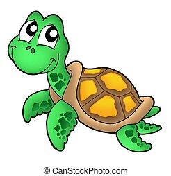 Little sea turtle - color illustration.