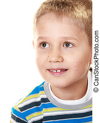 Little smiling boy child portrait