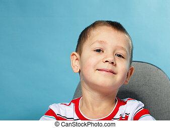 little smiling boy schoolboy portrait