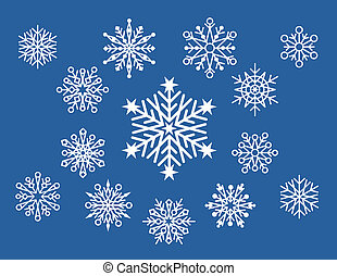 Little Snowflake Designs - Vector collection of 14...