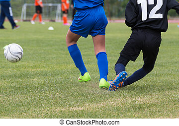 Little Soccer Players during Match