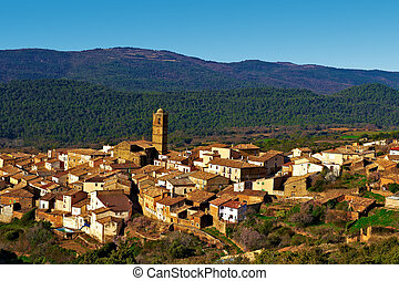 Medieval Town - Little Spanish Medieval Town on the Slopes ...