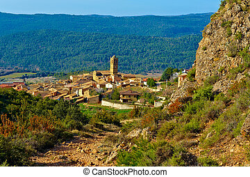 Spanish Medieval Town - Little Spanish Medieval Town on the ...