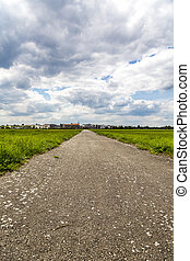 little street to the horizon