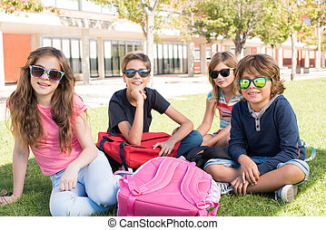 Little students at School Campus