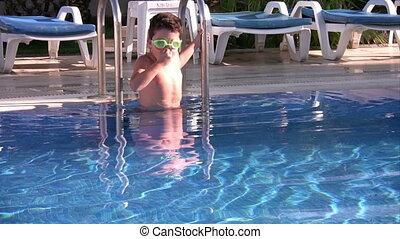 Little swimmer swimming