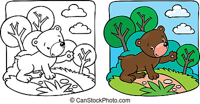 Little teddy bear coloring book