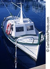 little traditional Mediterranean wooden boat