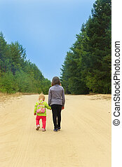 little travellers go on the forest road