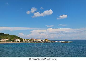 Little village at cap Corse - Little village Santa Severa at...