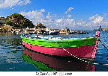 Little village Barcaggio at Cap Corse