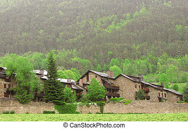 Little village in Pyrenees