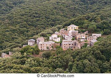 Little village Poggio at Cap Corse on French island Corsica