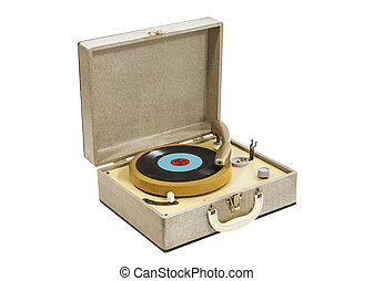 Little Vintage Record Player in Box