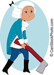 Little Washington - Little kid in George Washington costume...