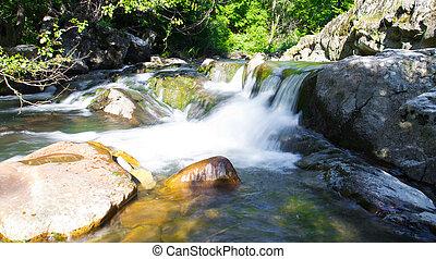 Little waterfall in Miykovtsi village 2