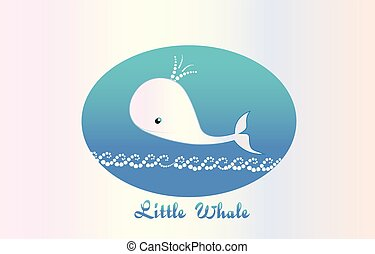 Little whale graphic logo