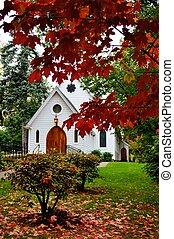 Little White Chapel - little white chapel church behind the...
