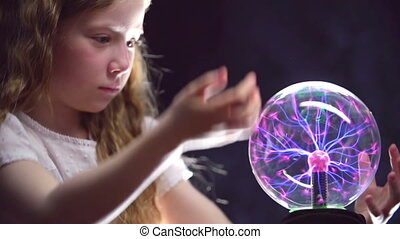 Little Witch - Static close-up of girl rotating magic ball...