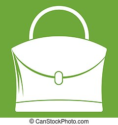 Little woman bag icon green