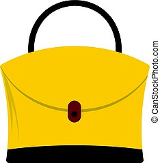 Little woman bag icon isolated