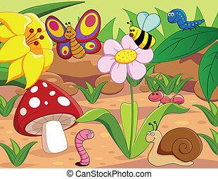 Little world - Vector illustration of little animals