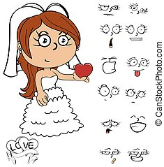 little young bride cartoon emotions