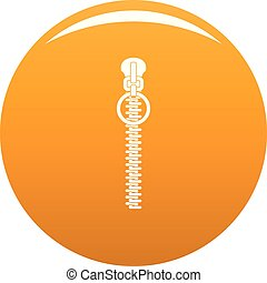 Little zip icon vector orange