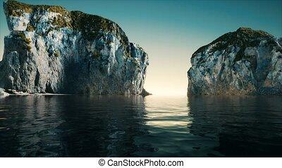 littoral, falaise, portugal, pierre