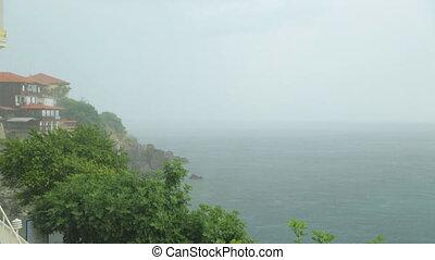 littoral, pluie, sur