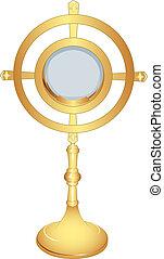 monstrance - liturgical vessel gold monstrance