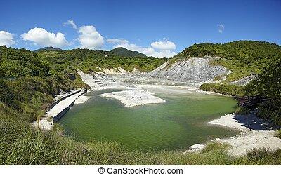 Liuhuanggu sulfur lake , Yangmingshan National Park, Taipei, Taiwan