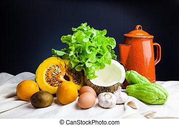 liv, ännu, grönsaken
