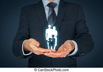 liv familie, forsikring, og, politik