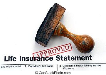 liv, -, forsikring, anerkendt