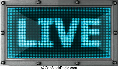 live announcement on the LED display